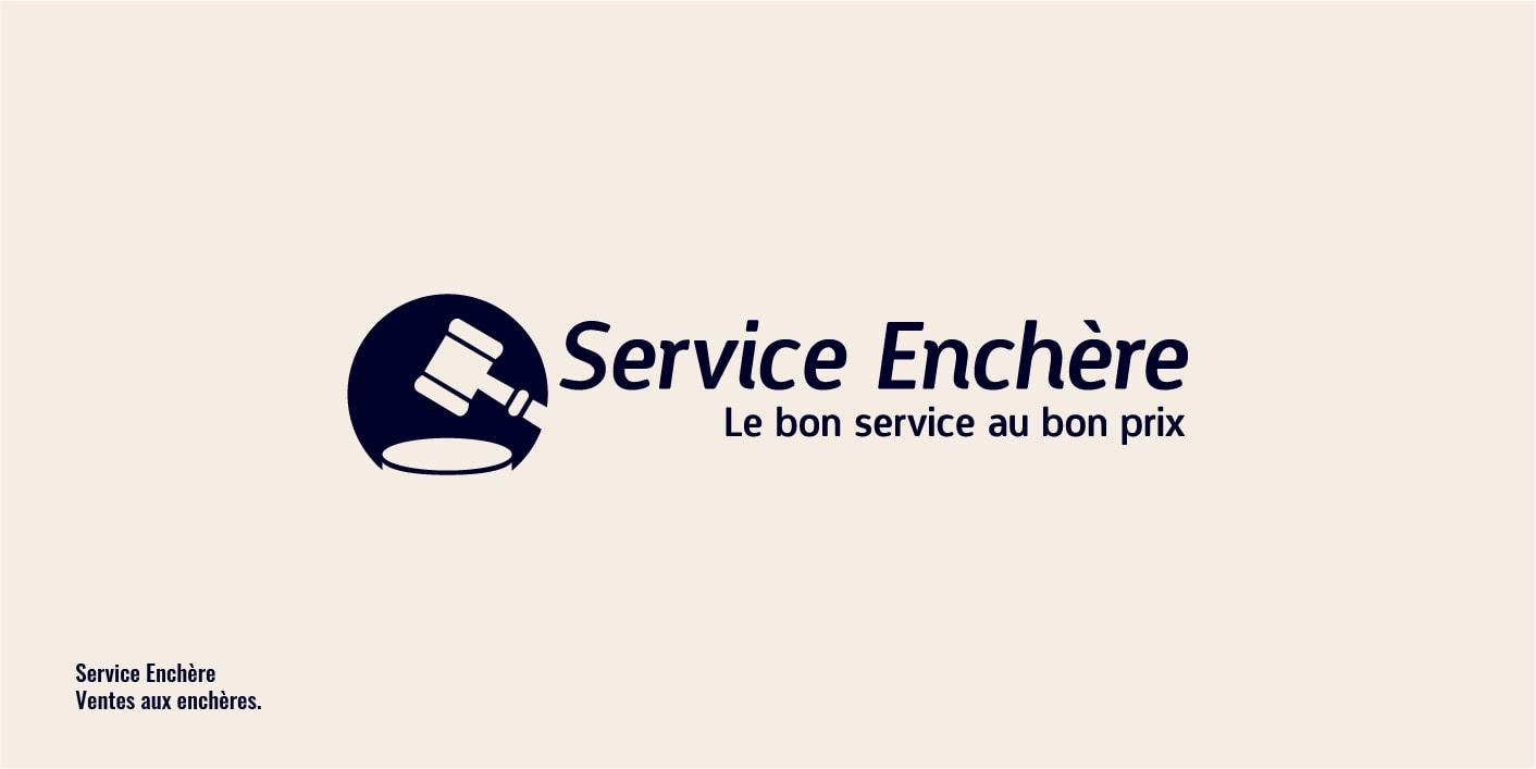 Logo service enchère : ventes aux enchères