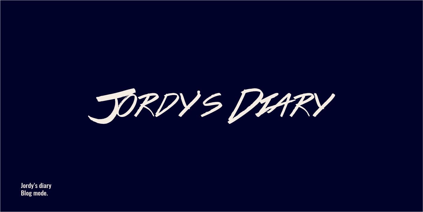 Logo Jordy diary : blogueur mode