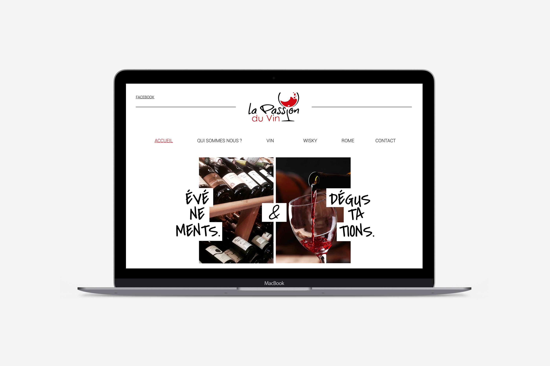 La passion du vin – webdesign