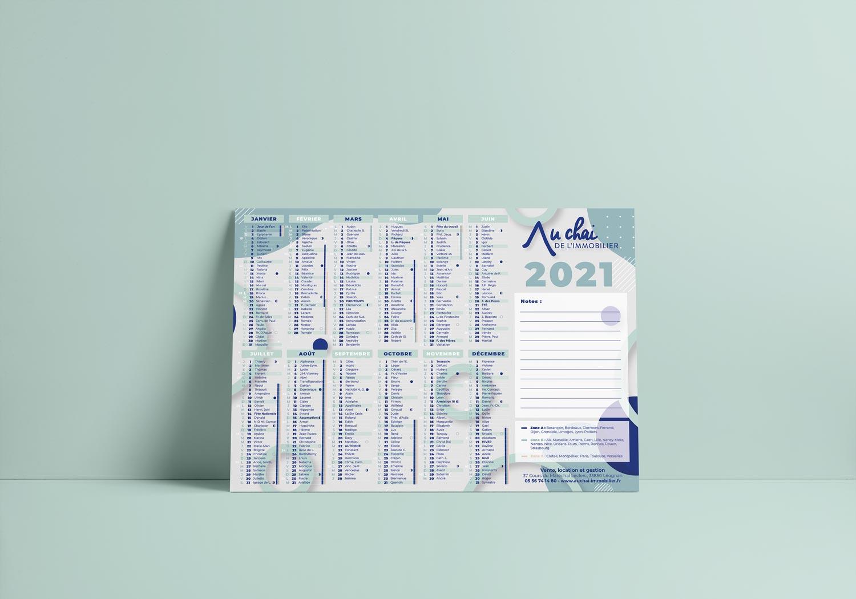 Graphisme calendrier 2021