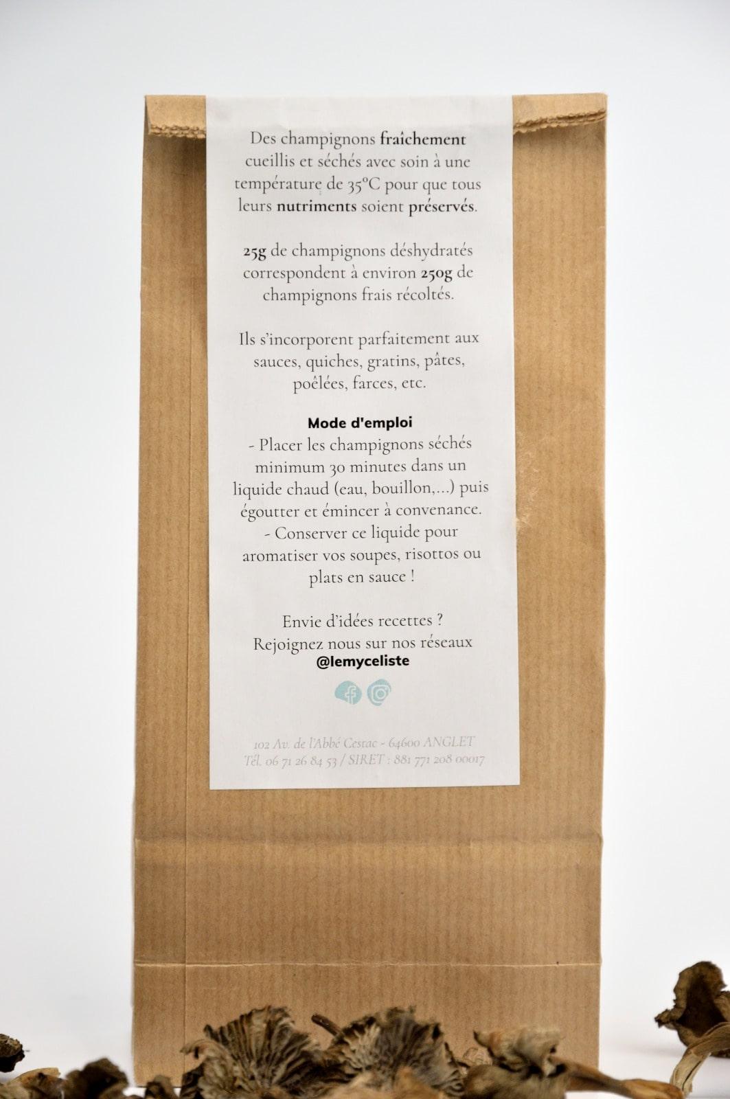 Packaging champignons désydratés - Le Mycéliste