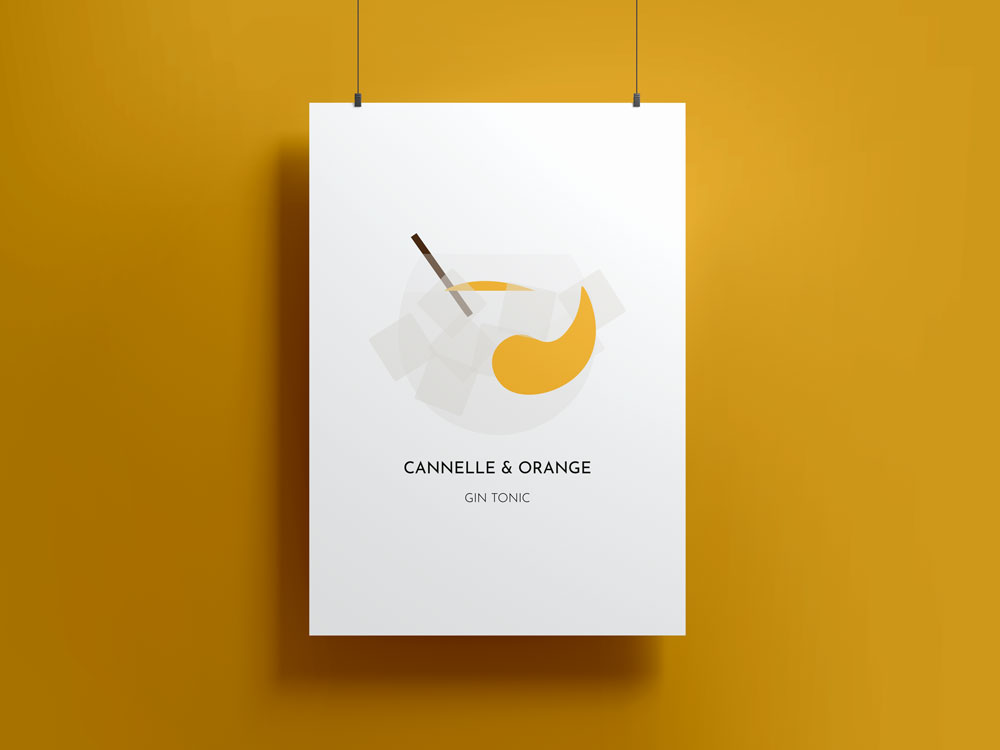 Poster Cocktail party - Gin tonic cannelle et orange